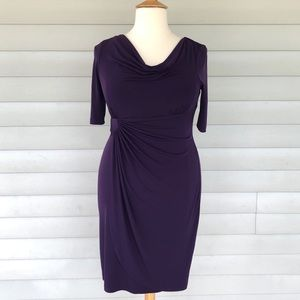 NWOT Connected Apparel Purple Sarong Dress 16W